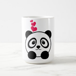 Tasse de panda d'amour