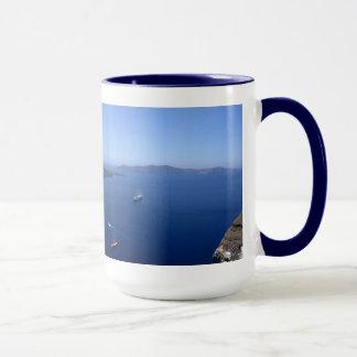 Tasse de panorama de Santorini