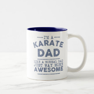 Tasse de papa de karaté (bleue)