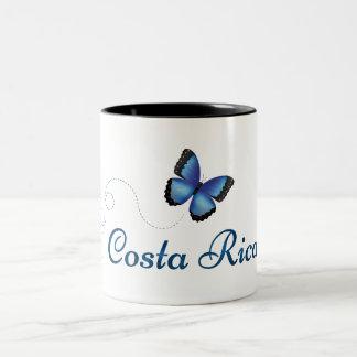 Tasse de papillon du Costa Rica Morpho
