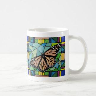 Tasse de papillon en verre souillé