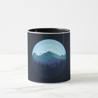 Tasse de paysage de montagne de Milou