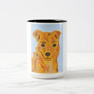 Tasse de peinture de chien de Terrier