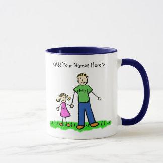 Tasse de père et de fille (noms de personnaliser)