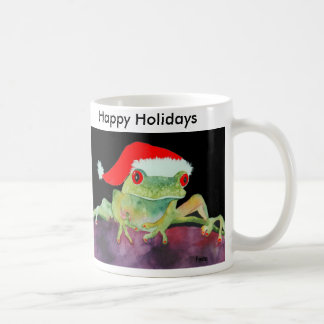 Tasse de Père Noël de grenouille