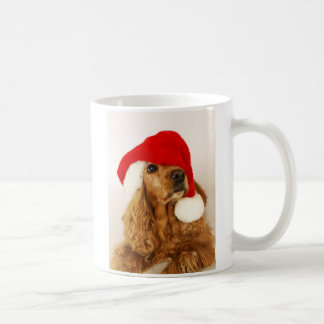 Tasse de Père Noël de Noël de cocker