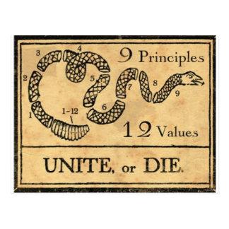 tasse de pères fondateurs carte postale