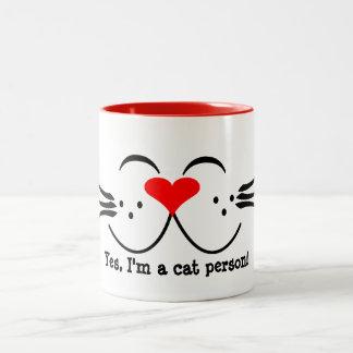 Tasse de personne de chat
