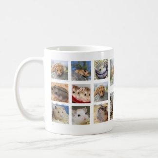 Tasse de photo de collage de hamster/gerbille