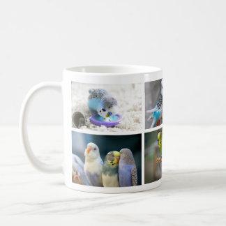 Tasse de photo de collage d'oiseau