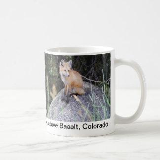 Tasse de photo de renard rouge