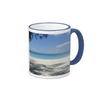 Tasse de plage de sonnerie de bleu de poudre