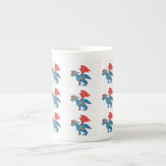 Tasse de porcelaine tendre de dragon