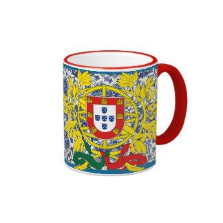 Tasse de Porgtuguese Azulejo avec la crête