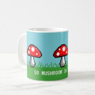 Tasse de pré de champignon de pixel