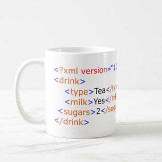 Tasse de programmation de thé de XML