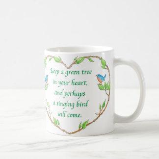 tasse de proverbe d'oiseau