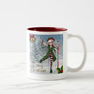 Tasse de Sadie Elf de Joyeux Noël