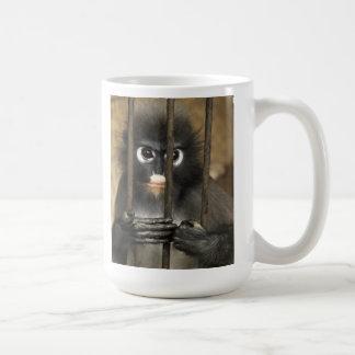 Tasse de singe de zoo