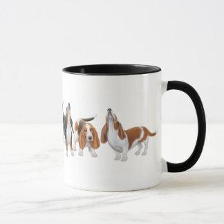 Tasse de sonnerie de chiens de basset