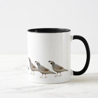 Tasse de sonnerie de famille de cailles