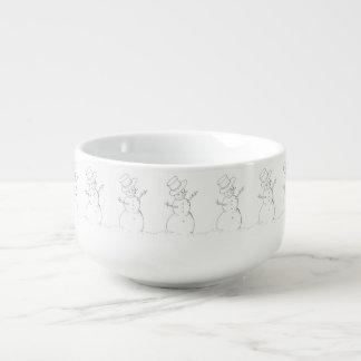 tasse de soupe à bonhomme de neige
