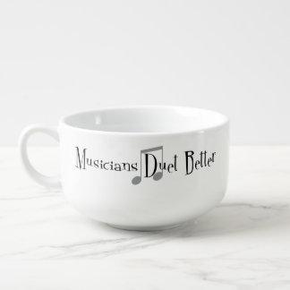 Tasse de soupe à duo (notes) mug à soupe