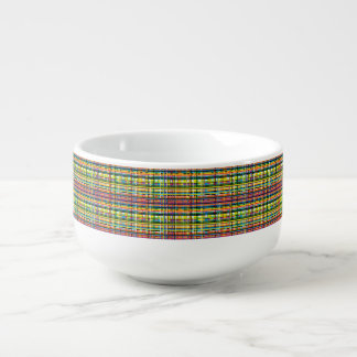 tasse de soupe à plaid d'arc-en-ciel