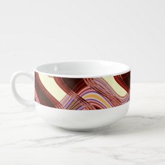 Tasse de soupe à porto et à pêche par l'artiste mug à potage