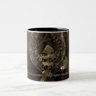 tasse de steampunk avec le tarte de cutie de mooni