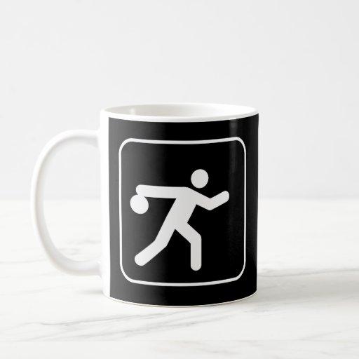 Tasse de symbole de bowling