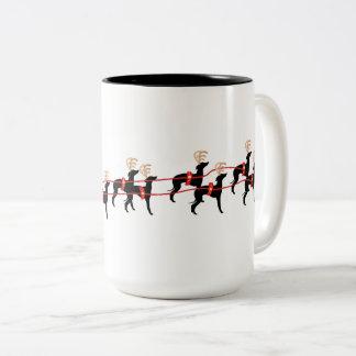 Tasse de tasse de chien de Noël de lévrier italien
