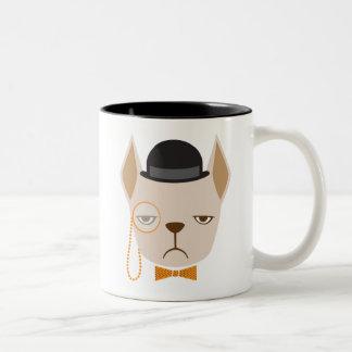 Tasse de tasse de moyen de bouledogue français