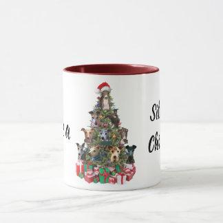 Tasse de tasse de vacances de Noël de chien de