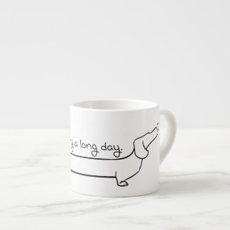 Tasse de teckel de café express