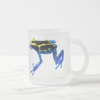 Tasse de teinture bleue de grenouille de dard de