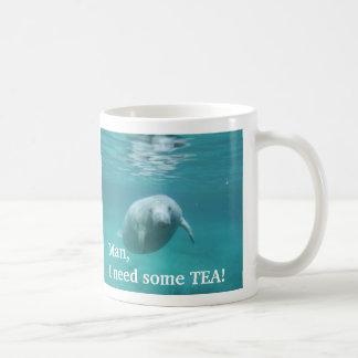 Tasse de thé de lamantin customisée par gaucher