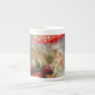 Tasse de thé de lustre d'automne par Lynne