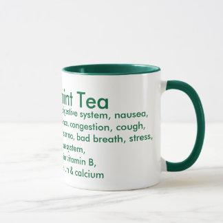 Tasse de thé de menthe poivrée