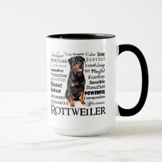 Tasse de traits de Rottie