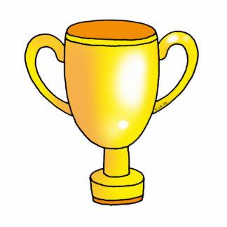 tasse de trophée de champion d'or photo sculpture