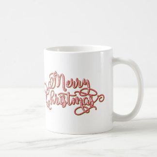 Tasse de vacances de calligraphie de Joyeux Noël
