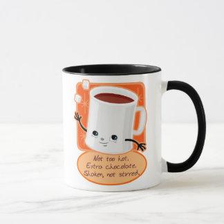 Tasse de vacances de chocolat chaud