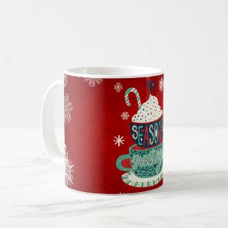 Tasse de vacances de Joyeux Noël de Joyeuses Fêtes