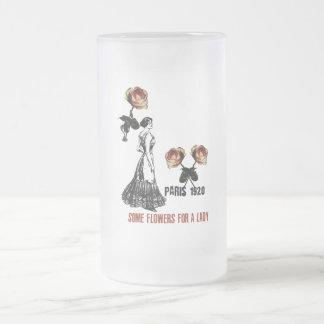 Tasse de verre glacé Vintage Paris 1920