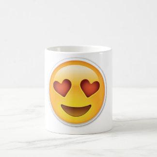 Tasse de visage de coeur d'amour d'Emoji
