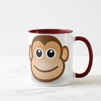 Tasse de visage de singe