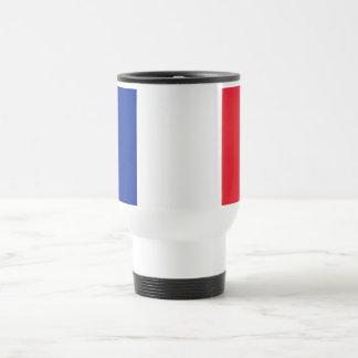 Tasse de voyage avec le drapeau de la France