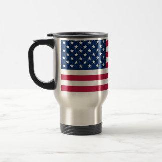 Tasse de voyage avec le drapeau des Etats-Unis
