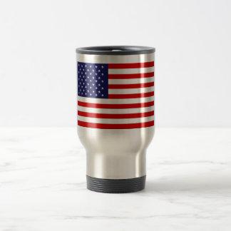 Tasse de voyage de drapeau américain